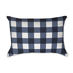 Navy and White Buffalo Check Accent Pillow