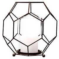 Metal Hexagon Candle Holder