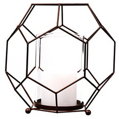 Metal Hexagon Candle Holder