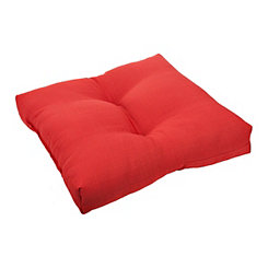Chili Red Outdoor Ottoman Cushion