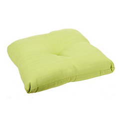 Solid Verde Outdoor Ottoman Cushion