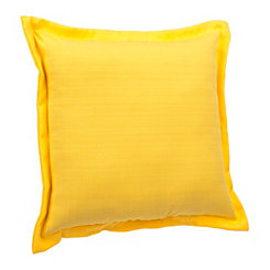 Solid Yellow Flange Outdoor Pillow