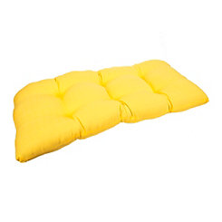 Solid Yellow Settee Cushion