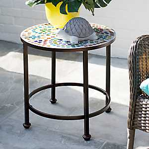 Colorful Mosaic Outdoor Side Table