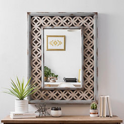 Pierced Wood Decorative Mirror
