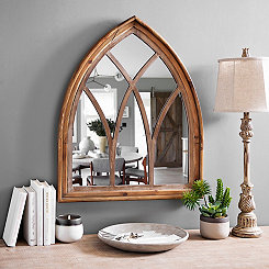 Natural Pointed Arch Mirror