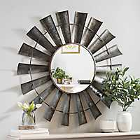Galvanized Windmill Decorative Mirror