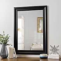 Black Bead Framed Wall Mirror, 24x36