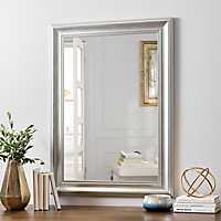 Silver Bead Framed Wall Mirror, 24x36