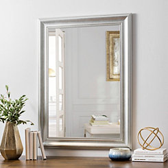 Brushed Nickel Bathroom Mirror. Silver Bead Framed Wall Mirror  24x36 Mirrors Bathroom Kirklands