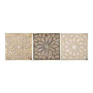 Cortell Textured Medallion Canvas Prints, Set of 3