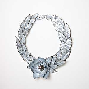 Galvanized Metal Magnolia Wreath