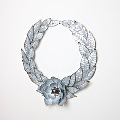 Galvanized Metal Magnolia Wreath
