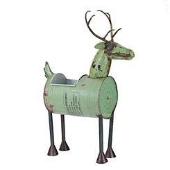 Reclaimed Green Metal Reindeer