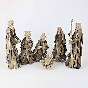 Driftwood Nativity Scene, Set of 6