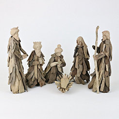 Driftwood Nativity Scene, Set of 6
