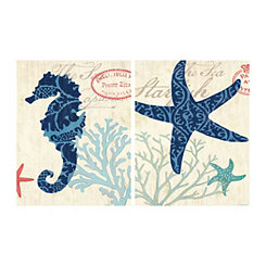 Sea Life Canvas Art Prints, Set of 2