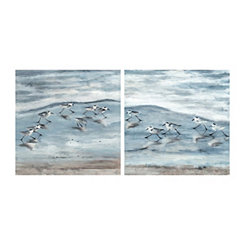 Light Sandpipers Canvas Art Prints, Set of 2