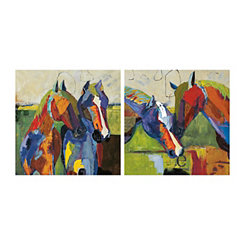 Two Equinus Canvas Art Prints, Set of 2