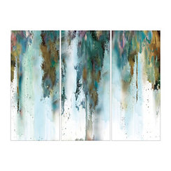 Abstract Skyline Canvas Art Prints, Set of 3