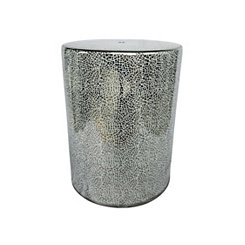 Silver Mosaic Ceramic Garden Stool