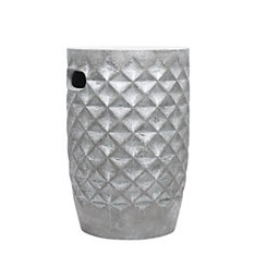 Silver Diamond Ceramic Garden Stool
