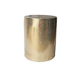Gold Mosaic Ceramic Garden Stool