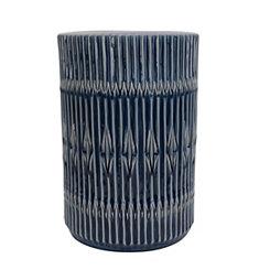 Navy Bohemian Ceramic Garden Stool