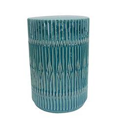 Teal Bohemian Ceramic Garden Stool