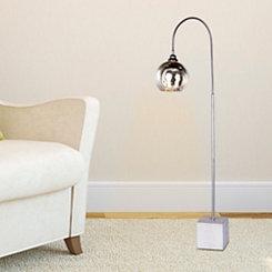 Dark Silver Arched Metal Floor Lamp