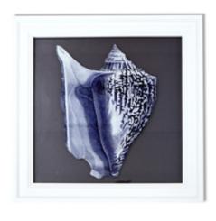 Blue Reverse Conch Framed Art Print