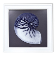 Blue Reverse Shell Framed Art Print