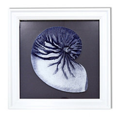 Blue Reverse Shell Framed Art Print