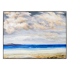 Beach Scene Framed Canvas Art Print