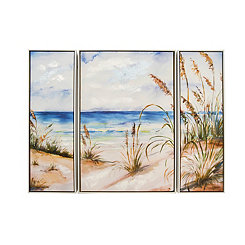 Shoreline Framed Canvas Art Prints, Set of 3