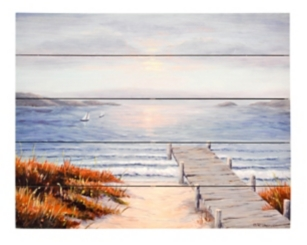 Pier Vacation Wood Art Print