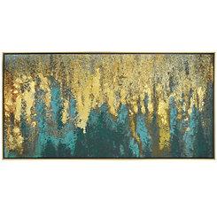 Liquid Gold Framed Canvas Art Print