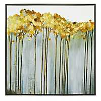 Golden Birch Framed Canvas Art Print