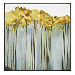 Golden Birch Framed Canvas Art Print
