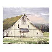White Barn Wood Art Print