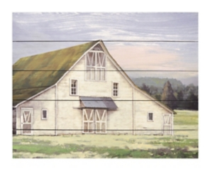 White Barn Wood Art Print