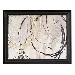 Metallic Circles Framed Art Print