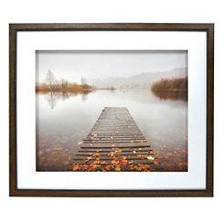 Autumn Lake Dock Shadowbox