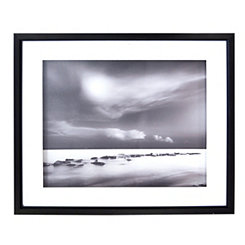 Black and White Tide Shadowbox Framed Art Print