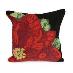 Christmas Flower Indoor/Outdoor Pillow