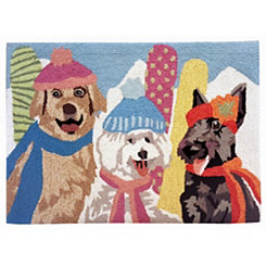 Ski Dogs Indoor/Outdoor Large Accent Rug