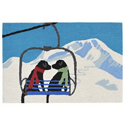 Lab Ski Lift Indoor/Outdoor Large Accent Rug