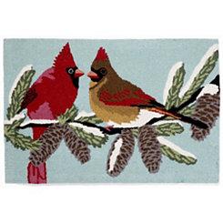 Snow Birds Indoor/Outdoor Large Accent Rug