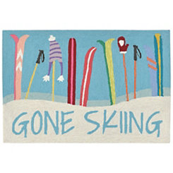 Gone Skiing Indoor/Outdoor Large Accent Rug