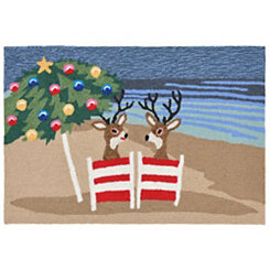 Beachside Holiday Indoor/Outdoor Large Accent Rug